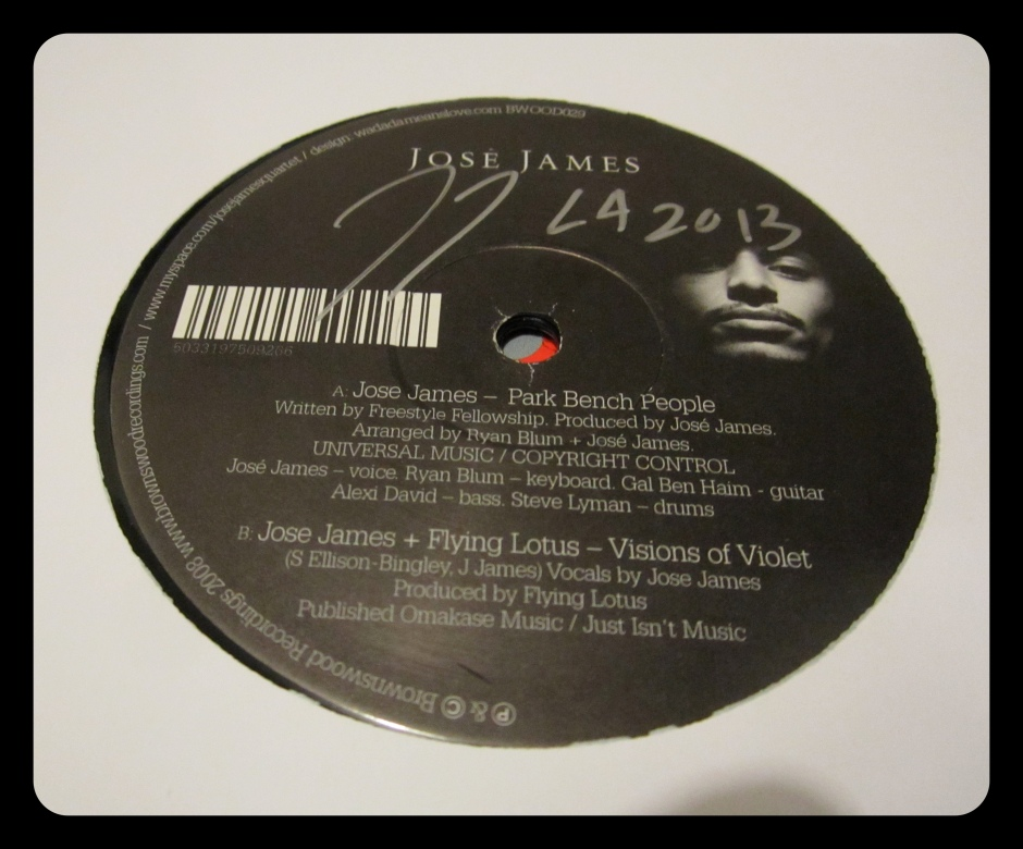 """Autographed 12"""" single of """"Park Bench People"""".  #Treasure"""