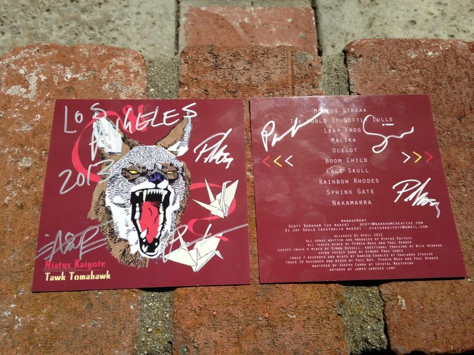 Signed album artwork.  Treasure.