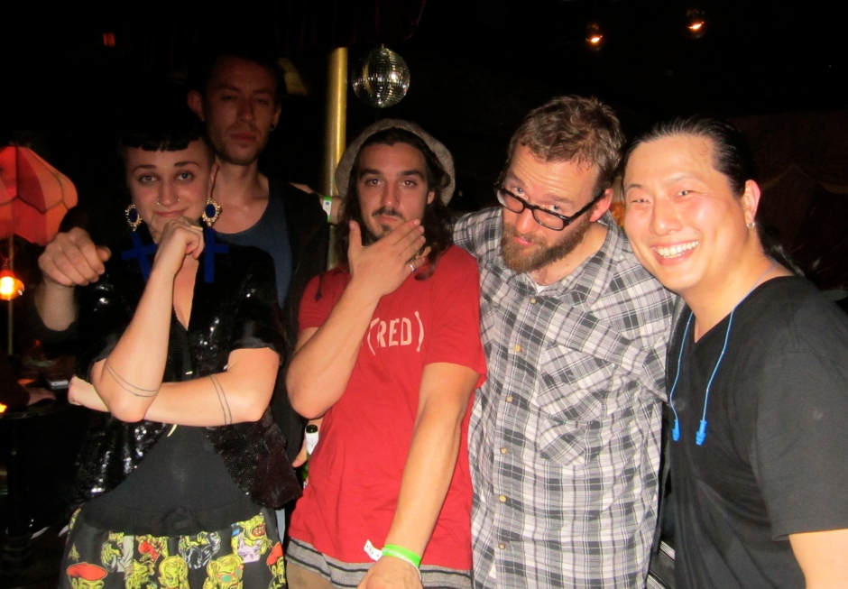 Hiatus Kaiyote was kind enough to take a picture with me.