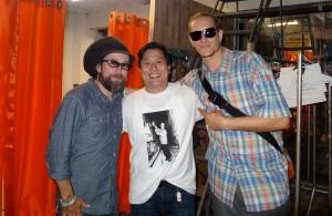 Damon Aaron, Me and Miguel Atwood Ferguson.