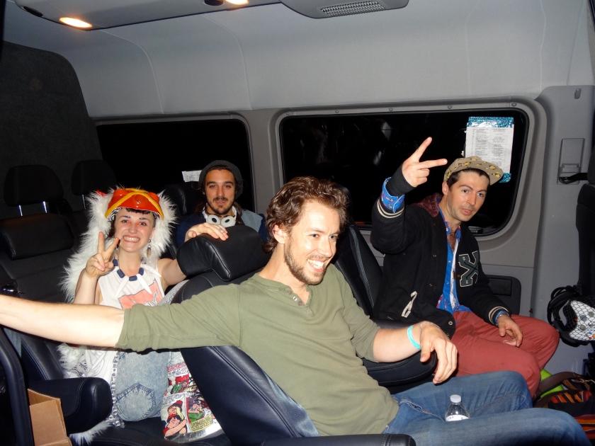 Nai, Perrin, Simon and their tour manager.