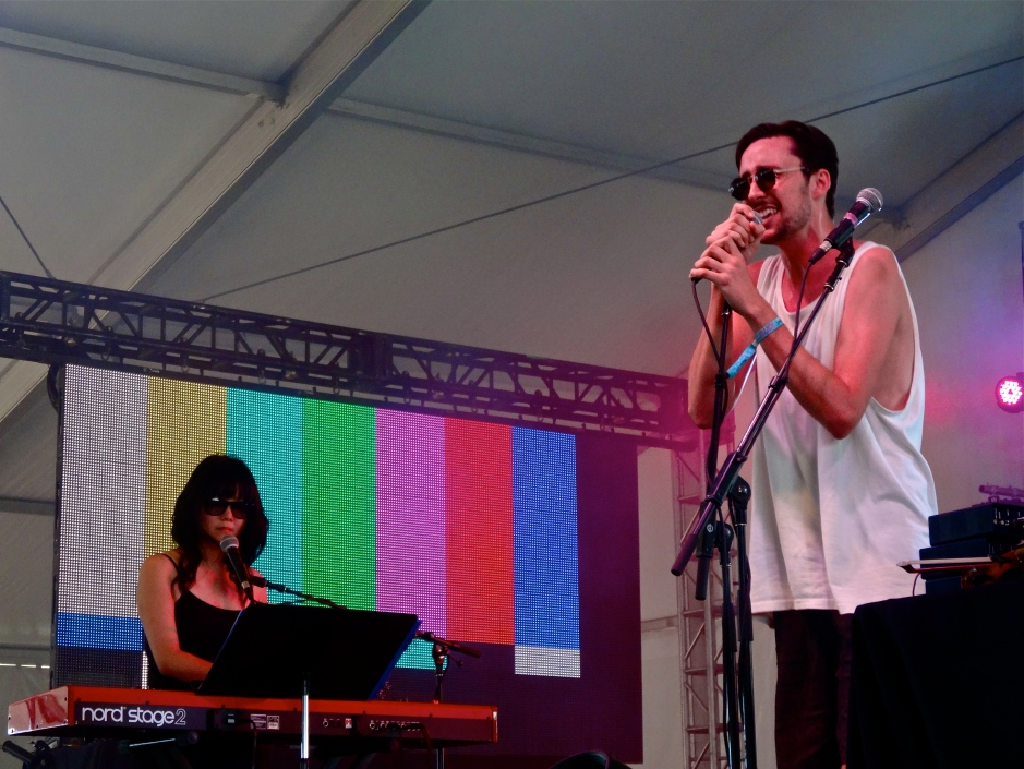 Tom Krell p/k/a How To Dress Well with his keyboardist.