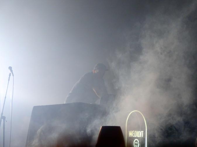 Shlohmo amidst the mist.