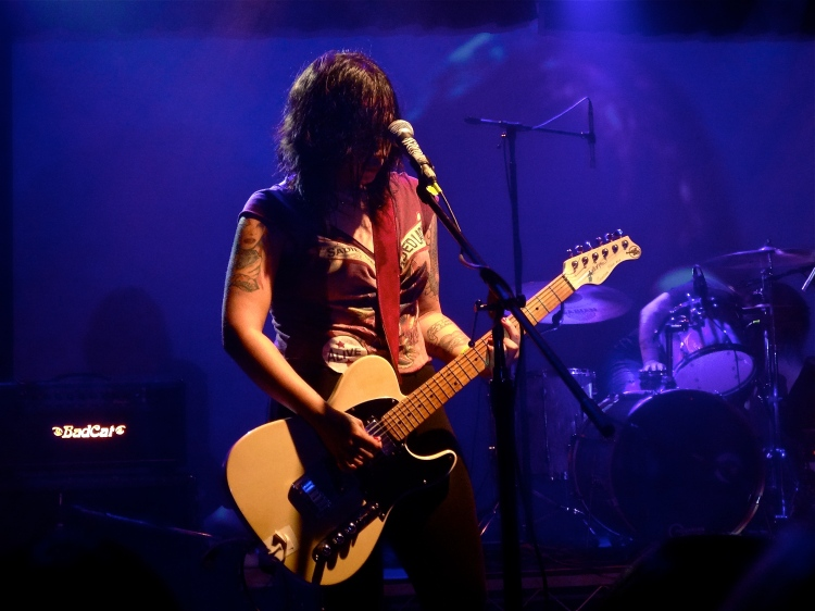 Nina Diaz of Girl in a Coma at the Echoplex 9/12/13.