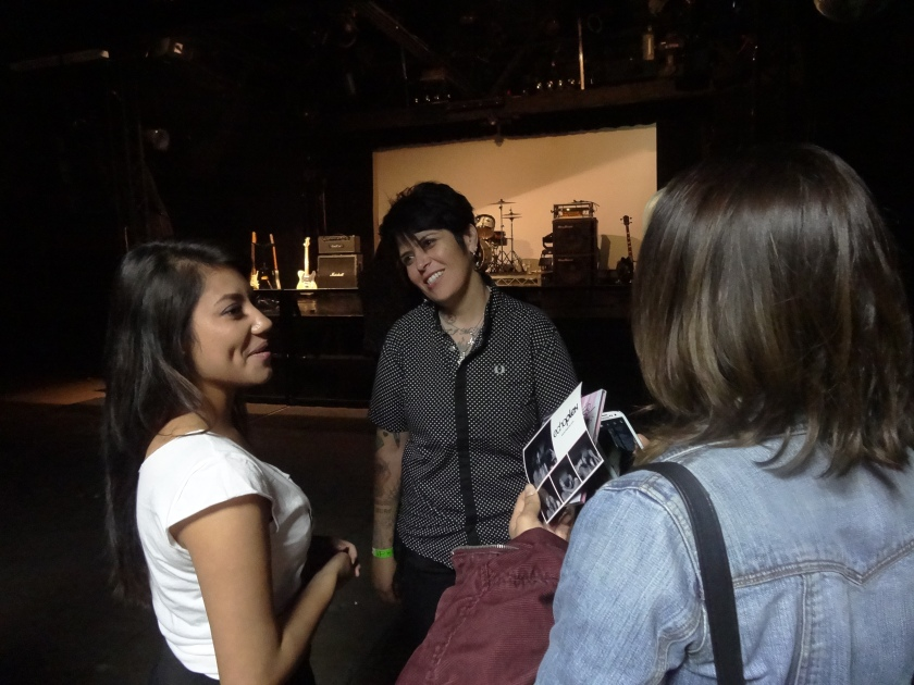 Jenn Alva Girl In A Coma hanging with fans after their at the Echoplex 9/12/13