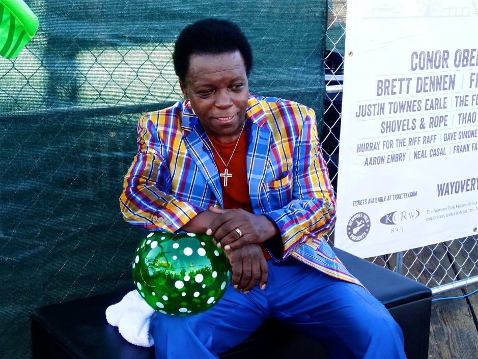 Lee Fields in repose at The Beach Ball Festival 9/21/13 [@methodman13]
