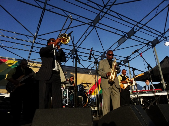 Maceo Parker and his band performing at The Beach Ball Festival 9/21/13 [ig: @methodman13]