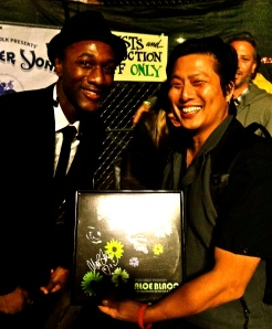 "Me and Aloe Blacc (with his 2006 12'' Single of ""Get Down"") at The Beach Ball Festival 9/21/13 [ig: @methodman13]"