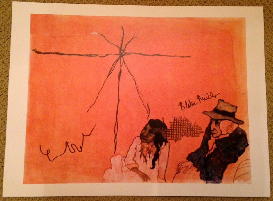 A lithograph of Fiona's original artwork signed by both Fiona Apple and Blake Mills.