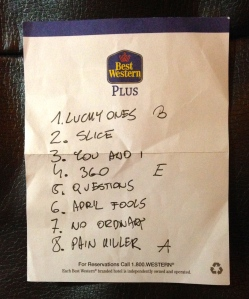 Iza's setlist at the first of three of her scheduled performances at Culture Collide.