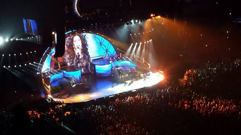 """A Level: """"Cher, larger than life.  Massive screen in consideration of the failing eyesight of the older audience members?"""""""