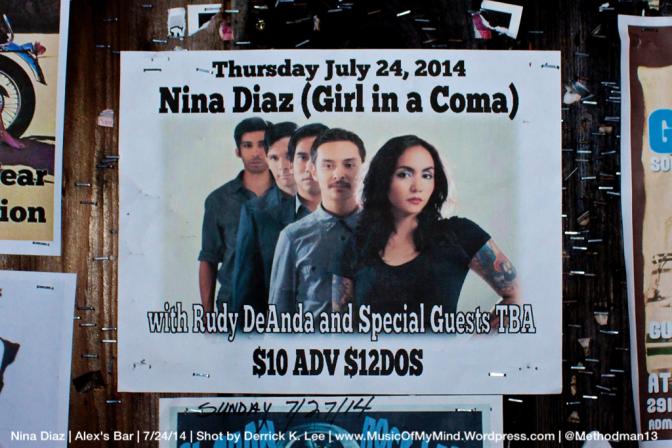 Nina Diaz | Alex's Bar | 7/25/14 [PHOTOS]