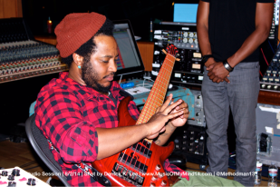 Thundercat stretching his fingers after shredding