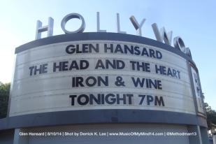 Glen Hansard Hollywood Bowl Marquee