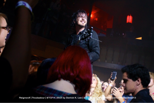 Jordan Cook of Reignwolf in the crowd