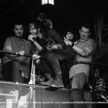 Jordan Cook of Reignwolf performing in the balcony