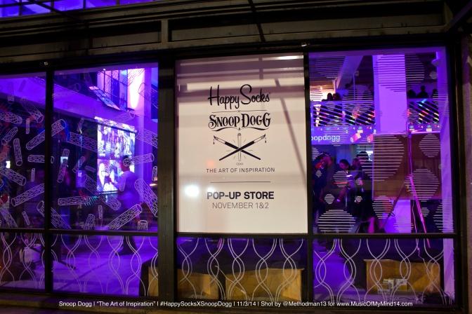 "Snoop Dogg aka DJ Snoopadelic | ""The Art of Inspiration"" | #HappySocksXSnoopDogg | 11/3/14 [Photos]"