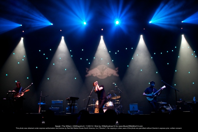 """SPEAK   The Wiltern   Red Bull Sound Select's """"30 Days In LA""""   11/20/14 [Photos & Video]"""