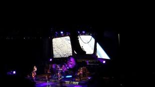 Stage design by Google Earth or NASA? (Boston in concert at the Forum.)