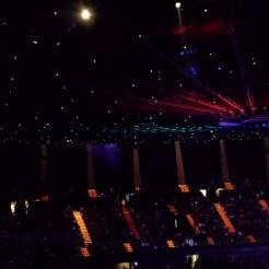 Boston brought outer space into the Forum. (Boston in concert at the Forum.)