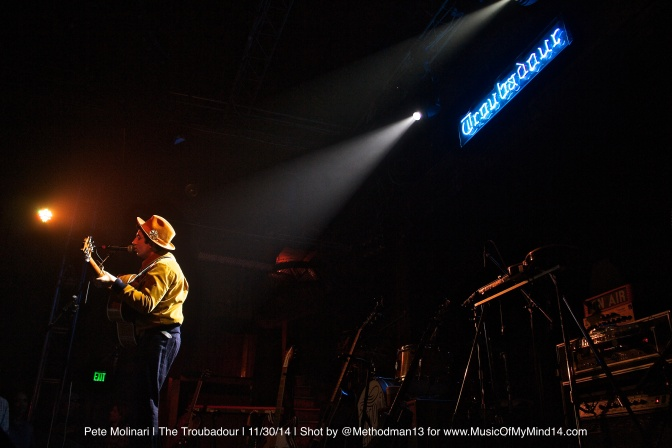 Pete Molinari | The Troubadour | 11/30/14 [Photos and Video]