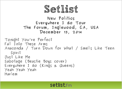 New Politics | Setlist | KROQ Almost Acoustic Christmas