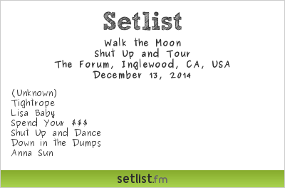 Walk The Moon | Setlist | KROQ Almost Acoustic Christmas
