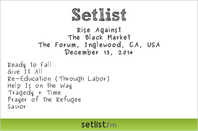 Rise Against | Setlist | KROQ Almost Acoustic Christmas