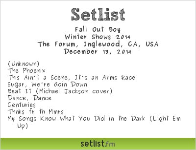 Fall Out Boy | Setlist | KROQ Almost Acoustic Christmas