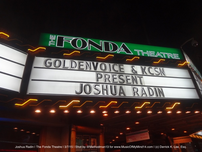 REVIEW & PHOTOS: Joshua Radin, Rachael Yamagata & Cary Brothers | The Fonda Theatre | 3/7/15