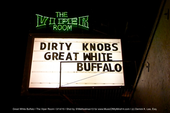 REVIEW & PHOTOS: Great White Buffalo | The Viper Room | 3/14/15