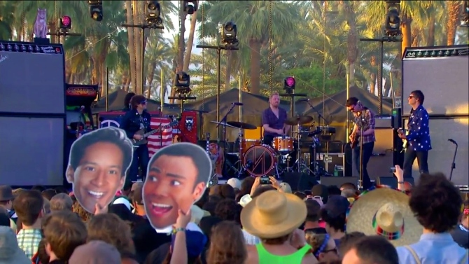 Ryan Adams  Coachella  4/12/15   iPhone5 Screen Shot of Weekend 1 Live Stream Un-Leashed by T-Mobile