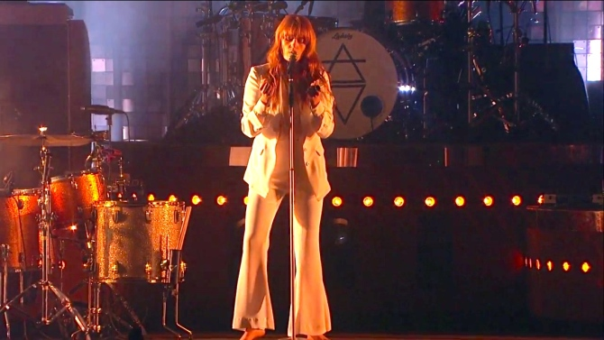 Florence + The Machine   Coachella  4/12/15   iPhone5 Screen Shot of Weekend 1 Live Stream Un-Leashed by T-Mobile