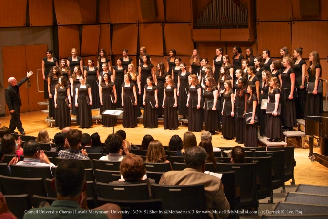 REVIEW: Cornell University Chorus | Loyola Marymount | 3/29/15