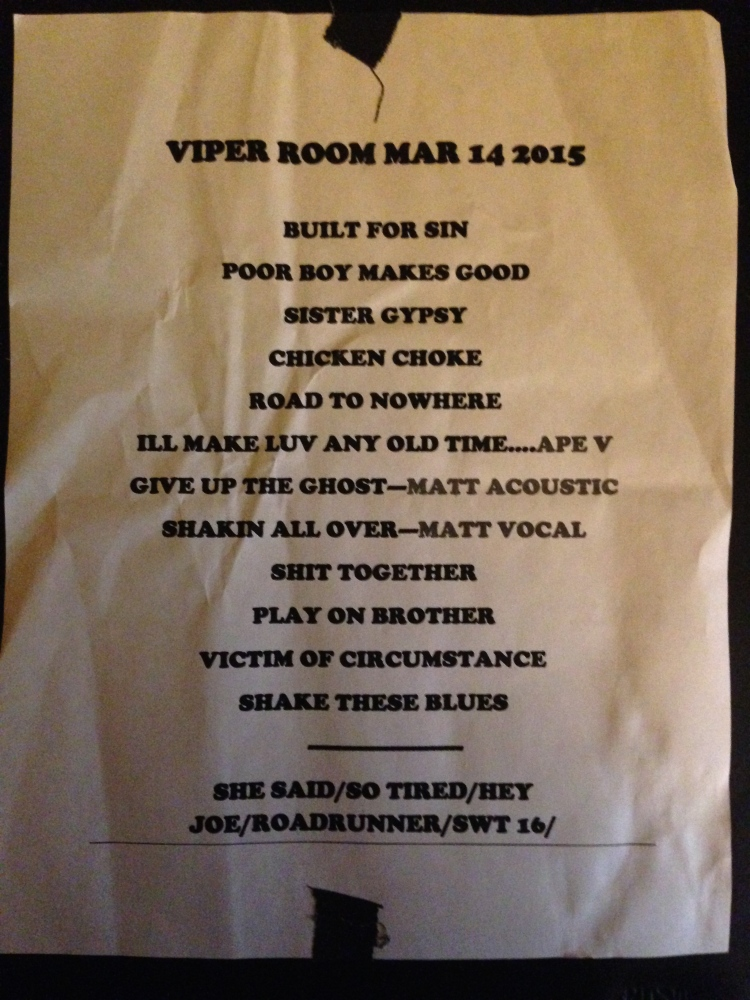 The Dirty Knobs | The Viper Room | 3/14/15
