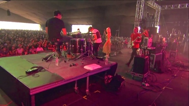 RAC | Coachella | 4/12/15 | iPhone5 Screen Shot of Weekend 1 Live Stream Un-Leashed by T-Mobile