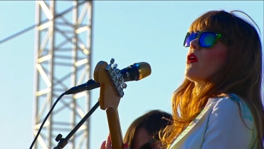 Jenny Lewis | Coachella | 4/12/15 | iPhone5 Screen Shot of Weekend 1 Live Stream Un-Leashed by T-Mobile