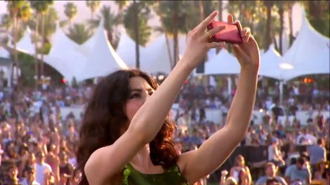 Marina and the Diamonds | Coachella |4/12/15 | iPhone5 Screen Shot of Weekend 1 Live Stream Un-Leashed by T-Mobile