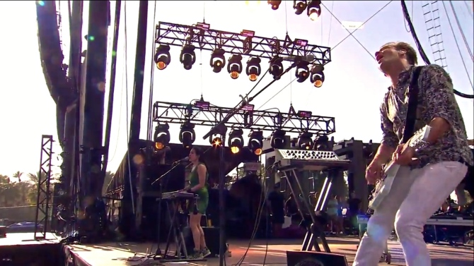 St. Lucia   Coachella   4/12/15   iPhone5 Screen Shot of Weekend 1 Live Stream Un-Leashed by T-Mobile