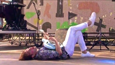 St. Lucia | Coachella | 4/12/15 | iPhone5 Screen Shot of Weekend 1 Live Stream Un-Leashed by T-Mobile
