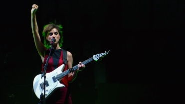 St. Vincent | Coachella |4/12/15 | iPhone5 Screen Shot of Weekend 1 Live Stream Un-Leashed by T-Mobile