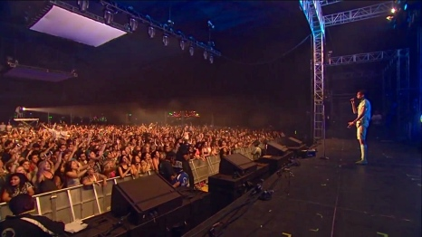 Stromae| Coachella |4/12/15 | iPhone5 Screen Shot of Weekend 1 Live Stream Un-Leashed by T-Mobile