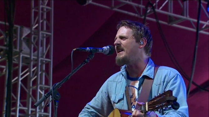 Sturgill Simpson   Coachella   4/12/15   iPhone5 Screen Shot of Weekend 1 Live Stream Un-Leashed by T-Mobile