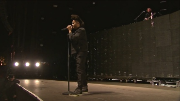 The Weeknd | Coachella | 4/11/15 | iPhone5 Screen Shot of Weekend 1 Live Stream Un-Leashed by T-Mobile