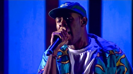 Tyler the Creator | Coachella | 4/11/15 | iPhone5 Screen Shot of Weekend 1 Live Stream Un-Leashed by T-Mobile